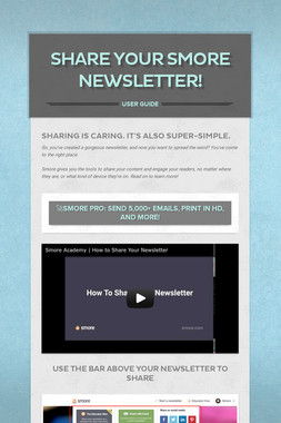 Share your Smore Newsletter!