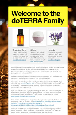 Welcome to the doTERRA Family