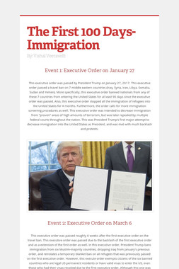 The First 100 Days-Immigration