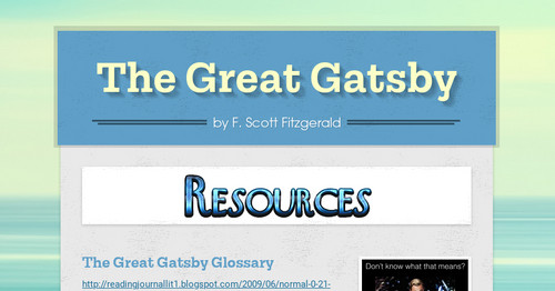 The Great Gatsby | Smore Newsletters