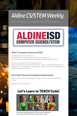 Aldine CS/STEM Weekly