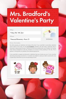 Mrs. Bradford's Valentine's Party