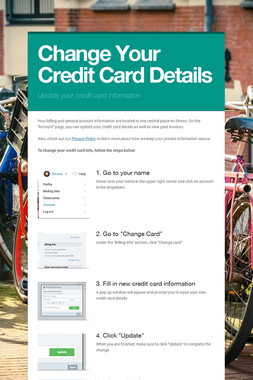 Change Your Credit Card Details