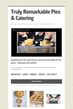 Truly Remarkable Pies & Catering