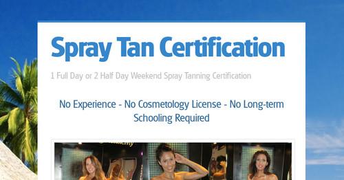 Spray Tan Certification