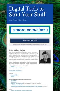 Digital Tools to Strut Your Stuff