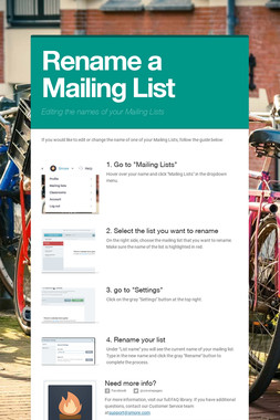 Rename a Mailing List