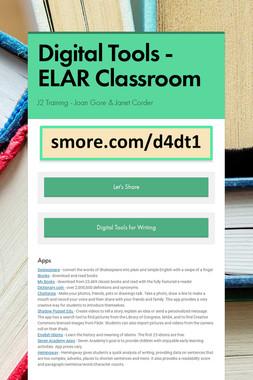 Digital Tools - ELAR Classroom