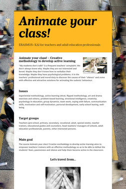 Animate your class!