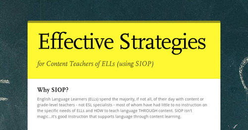 Effective Strategies Smore Newsletters For Education