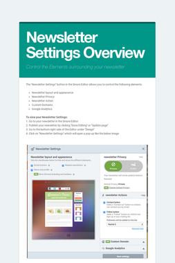 Newsletter Settings Overview