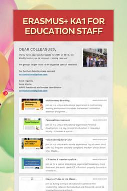 ERASMUS+ KA1 for education staff