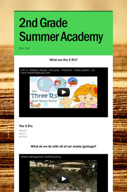 2nd Grade Summer Academy