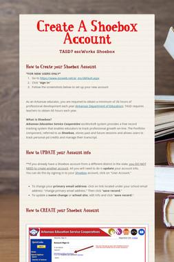 Create A Shoebox Account