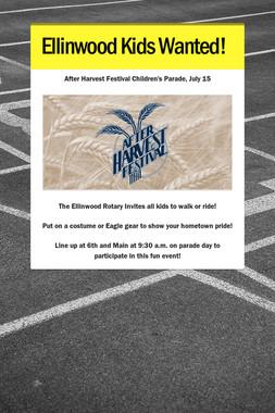 Ellinwood Kids Wanted!