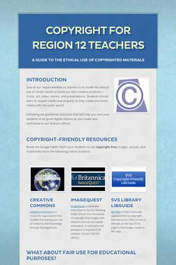Copyright for Region 12 Teachers