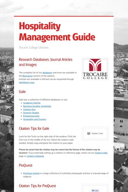 Hospitality Management Guide