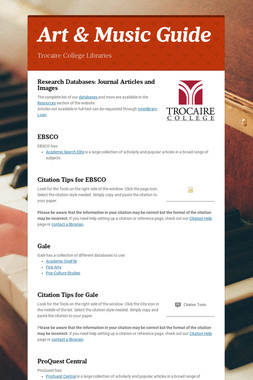 Arts & Music Guide
