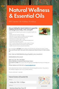 Natural Wellness & Essential Oils