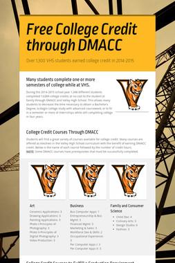 Free College Credit through DMACC
