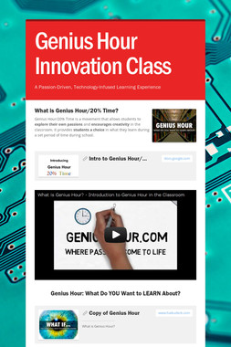 Genius Hour Innovation Class