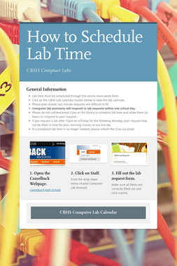 How to Schedule Lab Time