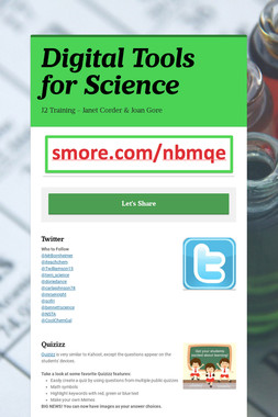 Digital Tools for Science