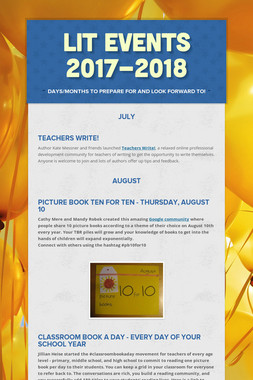 Lit Events 2017-2018