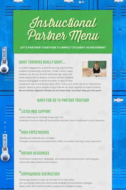 Instructional Partner Menu