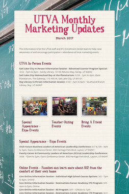 UTVA Monthly Marketing Updates