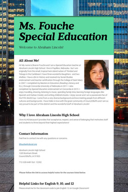 Ms. Fouche Special Education