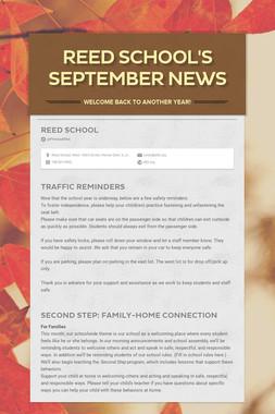 Reed School's September News