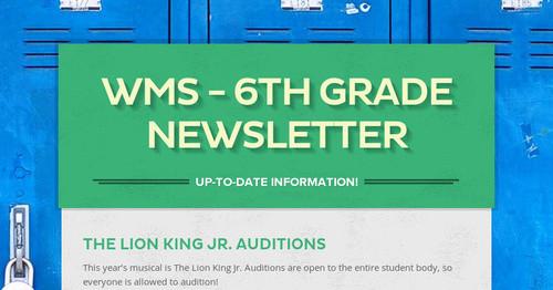 Wms 6th Grade Newsletter Smore Newsletters