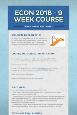 Econ 201B - 9 Week Course