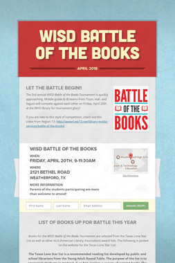WISD Battle of the Books