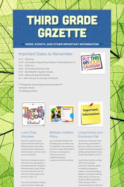 Third Grade Gazette