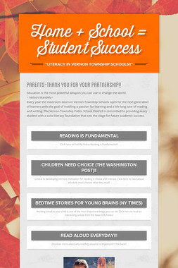 Home + School = Student Success