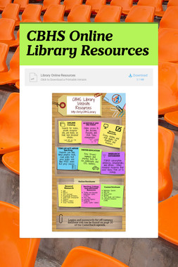 CBHS Online Library Resources