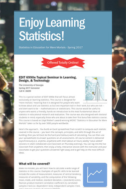 Enjoy Learning Statistics!