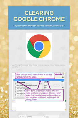 Clearing Google Chrome