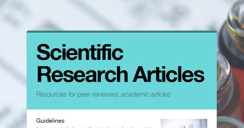 scientific article Sciencedaily features breaking news about the latest discoveries in science, health, the environment, technology, and more -- from major news services and leading universities, scientific journals.
