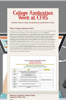 College Application Week at CFHS