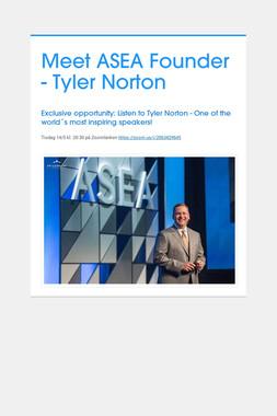 Meet ASEA Founder - Tyler Norton
