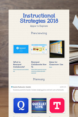 Instructional Strategies 2018
