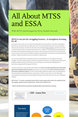 All About MTSS and ESSA