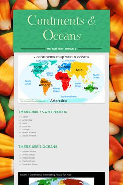 Continents & Oceans
