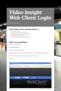 Video Insight Web Client Login