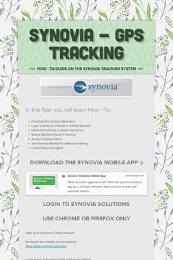 Synovia - GPS Tracking