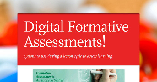 Digital Formative Assessments
