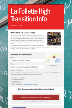 La Follette High Transition Info